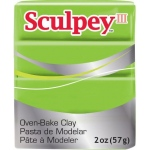 Sculpey® III Polymer Clay Granny Smith: Green, Bar, Polymer, 2 oz, (model S3021629), price per each