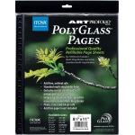 "Itoya® Art Profolio® PolyGlass® Refill Pages 11"" x 14"": Clear, Polypropylene, Refill, 11"" x 14"", (model PR1114), price per pack"