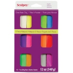 Sculpey® III Polymer Clay 12-Color Bright Set: Multi, Bar, Polymer, 1 oz, Oven Bake