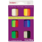 Sculpey® III Polymer Clay 12-Color Classic Set: Multi, Bar, Polymer, 1 oz, Oven Bake, (model S3VMC12), price per set