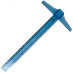 "Helix® Plastic 18"" T-Square Blue: Plastic, 18"", T-Square, (model H20008), price per each"