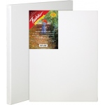 "Fredrix® Artist Series Red Label 9"" x 12"" Stretched Canvas: White/Ivory, Sheet, 9"" x 12"", 11/16"" x 1 9/16"", Stretched"