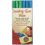 "Manuscript Sealing Gun Wax Blue Green: Blue, Green, 5/16"", Wax Stick, (model MSH7616BG), price per pack"