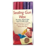 "Manuscript Sealing Gun Wax Pink Purple: Purple, Red/Pink, 5/16"", Wax Stick, (model MSH7616PP), price per pack"