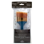 Royal & Langnickel Angular Gold Taklon Brush Set