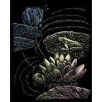 "Royal & Langnickel® Engraving Art Set Frog Pond: 8"" x 10"", Metallic, (model HOLO23), price per set"
