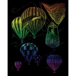 "Royal & Langnickel® Engraving Art Set Rainbow Foil Hot Air Balloon: 8"" x 10"", Multi, (model RAIN23), price per set"