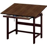 "Alvin® Titan Solid Oak Table Walnut Finish 36"" x 48"" x 37"": 0 - 45, Brown, Oak, 37"", Brown, Melamine, 36"" x 48"""