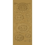 "Blue Hills Studio™ DesignLines™ Outline Stickers Gold #29: Metallic, 4"" x 9"", Outline, (model BHS-DL029), price per pack"