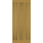 "Blue Hills Studio™ DesignLines™ Outline Stickers Gold #3: Metallic, 4"" x 9"", Outline"