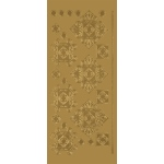 "Blue Hills Studio™ DesignLines™ Outline Stickers Gold #35: Metallic, 4"" x 9"", Outline, (model BHS-DL035), price per pack"