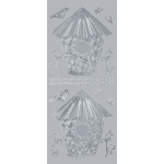 "Blue Hills Studio™ DesignLines™ Outline Stickers Silver #14: Metallic, 4"" x 9"", Outline"