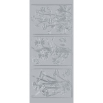 "Blue Hills Studio™ DesignLines™ Outline Stickers Silver #18: Metallic, 4"" x 9"", Outline, (model BHS-DL018), price per pack"