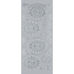 "Blue Hills Studio™ DesignLines™ Outline Stickers Silver #30: Metallic, 4"" x 9"", Outline, (model BHS-DL030), price per pack"