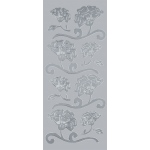 "Blue Hills Studio™ DesignLines™ Outline Stickers Silver #8: Metallic, 4"" x 9"", Outline"