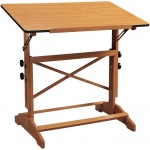 "Alvin® Pavillon Art and Drawing Table Cherry Melamine Top 24"" x 36"": 0 - 60, Brown, Wood, 31"" - 40"", Brown, Melamine, 24"" x 36"""