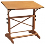 "Alvin® Pavillon Art and Drawing Table Cherry Melamine Top 30"" x 42"": 0 - 60, Brown, Wood, 31"" - 40"", Brown, Melamine, 30"" x 42"""