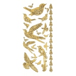"Dazzles™ Stickers Gold Bird: Metallic, 4"" x 9"", Outline, (model HOTP1840), price per each"