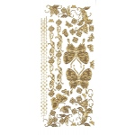 "Dazzles™ Stickers Gold Butterfly: Metallic, 4"" x 9"", Outline, (model HOTP1837), price per each"