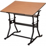 "Alvin® CraftMaster™ III Drafting Drawing and Art Table Black Base Cherry Top30"" x 42"": 0 - 30, Black/Gray, Steel, 35"" - 39 1/2"", Brown, Wood, 30"" x 42"", (model CM50-3-WBR), price per each"