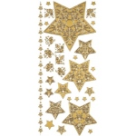 "Dazzles™ Stickers Gold Stacked Star: Metallic, 4"" x 9"", Outline"