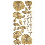"Dazzles™ Stickers Gold Stacked Rose: Metallic, 4"" x 9"", Outline"