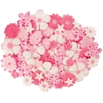 "Blue Hills Studio™ Irene's Garden™ Jar O'Blooms Pinks: Red/Pink, Paper, 2 1/2"", Dimensional"