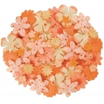 "Blue Hills Studio™ Irene's Garden™ Jar O'Blooms Oranges: Orange, Paper, 2 1/2"", Dimensional"