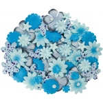 "Blue Hills Studio™ Irene's Garden™ Jar O'Blooms Blues: Blue, Paper, 2 1/2"", Dimensional, (model BHS806), price per each"