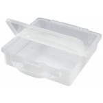 "Alvin® Stow & Go™ Storage Bin: 300 Sheets, Clear, Plastic, 12 1/2""d x 12 1/2""w x 3""h, (model ASB1313), price per each"