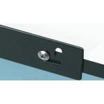 "Alvin® Metal Pencil Ledge 28"": Black/Gray, Metal, 28"", Ledge"