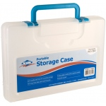 "Alvin® Portable Storage Case Small Clear: Clear, Plastic, 8 1/4""l x 12 1/4""w x 2""h, (model AC100-C), price per each"