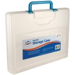 "Alvin® Portable Storage Case Large Clear: Clear, Plastic, 11 1/4""l x 15 1/4""w x 2""h, (model AC300-C), price per each"