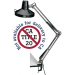 "Alvin® Black Swing-Arm Combination Lamp: Black/Gray, 10"" & Up, Swing-Arm, 26-75w, (model CL1755-B), price per each"