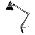"Alvin® Swing-Arm Lamp Black with Fluorescent Bulb: Black/Gray, Under 10"", Swing-Arm, 76-100w, (model CFL2540-B), price per each"
