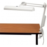 "Alvin® Fluorescent Task Light White: White/Ivory, 10"" & Up, Clamp, 8-25w, (model FL655-D), price per each"