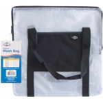 "Alvin® NBH Deluxe Series Deluxe Mesh Bag 13"" x 13"" : Black/Gray, Clear, Mesh, Nylon, Vinyl, 13"" x 13"", (model NBH1313), price per each"