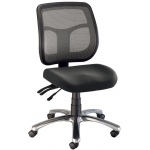 "Alvin® Argentum Mesh Back Chair Office Height: No, Black/Gray, Foot Ring Included, Under 24"", Fabric, (model CH728-45), price per each"