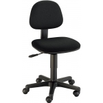 "Alvin® Budget  Task Chair Office Height: No, Black/Gray, No, Under 24"", Fabric, (model CH222-40), price per each"