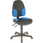 "Alvin® Black & Blue High Back Office Height Monarch Chair: No, Black/Gray, Blue, No, Under 24"", Fabric, (model CH555-85), price per each"