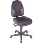"Alvin® Black High Back Office Height Monarch Chair with Leather Accents: No, Black/Gray, No, Under 24"", Fabric, Leather, (model CH555-95), price per each"