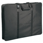 "Prestige™ Carry-All™ Soft-Sided Art Portfolio 23"" x 31"": Black/Gray, 3"", Nylon, 23"" x 31"""