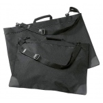 "Prestige™ University™ Series Black Soft-Sided Portfolio 24"" x 36"": Black/Gray, 1"", Nylon, 24"" x 36"""