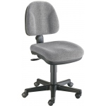 "Alvin® Medium Gray Premo Office Height Ergonomic Chair: No, Black/Gray, No, Under 24"", Fabric, (model CH444-60), price per each"