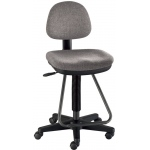 "Alvin® Viceroy Artist/Drafting Medium Gray Chair: No, Black/Gray, Foot Ring Included, 24"" - 29"", 30"" & Up, Under 24"", Fabric, (model DC999-60), price per each"