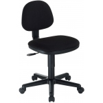 "Alvin® Black Comfort Economy Office Height Task Chair: No, Black/Gray, No, Under 24"", Fabric, (model CH277-40), price per each"