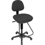 "Alvin® Studio Artist/Drafting Chair: No, Black/Gray, Foot Ring Included, 24"" - 29"", Under 24"", Plastic, (model CH202), price per each"