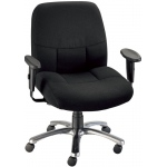 "Alvin® Olympian Office Height Comfort Chair: Arm Rest Included, Black/Gray, No, Under 24"", Fabric, (model CH300-40), price per each"