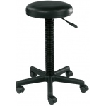 "Alvin® Pneumatic-Lift Stool: No, Black/Gray, No, Under 24"", Polyurethane, (model DC209), price per each"