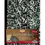 "Heritage Arts™ Art Portfolio 9"" x 12"": Black/Gray, White/Ivory, Paper, 9"" x 12"", (model HAP912), price per each"